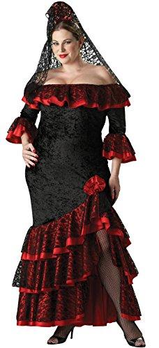 InCharacter UHC Women's Senorita Outfit Adult Fancy Dress Halloween Plus Size Costume, 2XL (20-22)]()