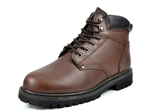 arctiv8 Mens Full-Grain Leather Work Boots Engine-brown