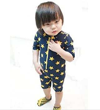 fed0b703457af 超可愛い子供服 水着 帽子付き 2点セット 子供 男児 水着 ラッシュガード 男の子