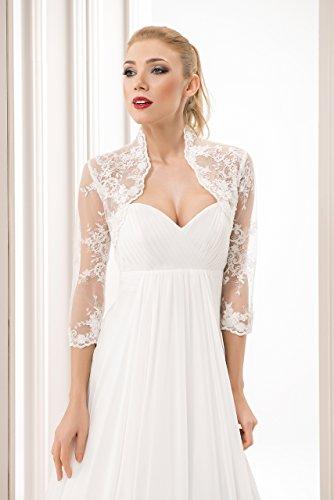 Stile E Sposa Manica Nuziale Decorato Con Paillettes 4 Bolero Perline Da Coprispalle Avorio 3 Paw5Iqnn