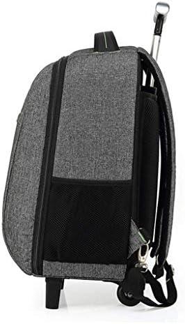 ダブルショルダーバッグビジネス多機能トロリーバックパックトラベルバッグ防水バックパック3 in 1ホイールトロリーバックパック手荷物スーツケースホールドオールラップトップバッグ