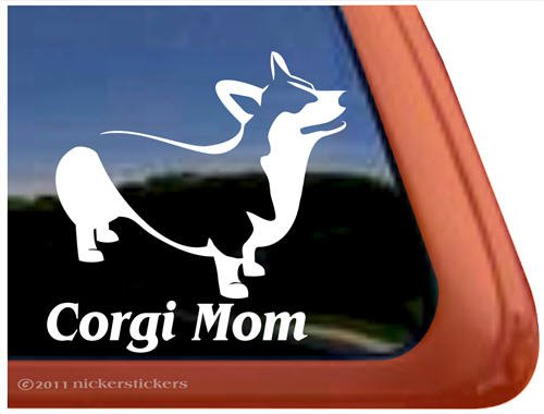 Corgi Mom Vinyl Pembroke Welsh Corgi Vinyl Dog Decal Sticker