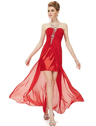 HE08120VE06, Red, 4US, Ever Pretty Wedding Dresses For Women 08120