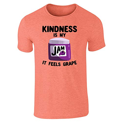 Kindness is My Jam It Feels Grape Funny Heather Orange S Short Sleeve T-Shirt -