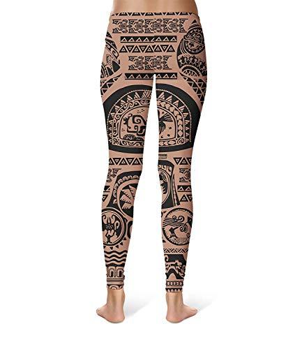 Workout Waist Printed Ladies Elastic Giovane Da Fitness Fashion Yoga Brown Skinny Leggings Stretch Pantaloni Sport wqIUEnXI
