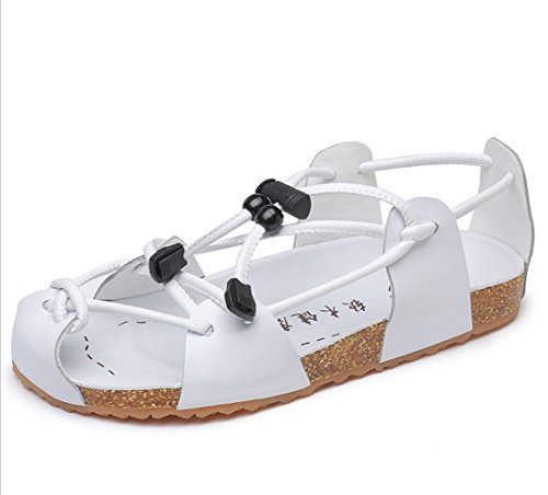 Men's Outdoor Slipperszhangm Blanco Sweat Breathable Casual Summer Liangxie Beach Sandals Hiking Shoes absorbent Fashion Leather qWCdp