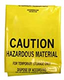 SAS Safety 7760 48-Inch by 30-Inch Hazardous Material Storage Bag