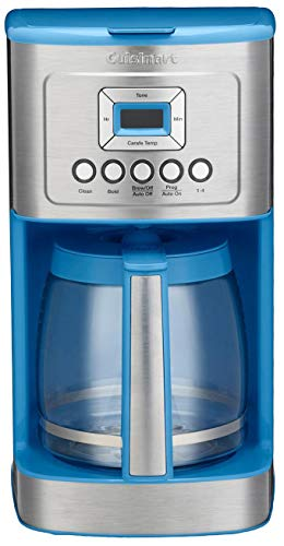 (Cuisinart DCC-3200 14C Glass Carafe with Stainless Steel Handle Programmable Coffeemaker, Sky Blue)