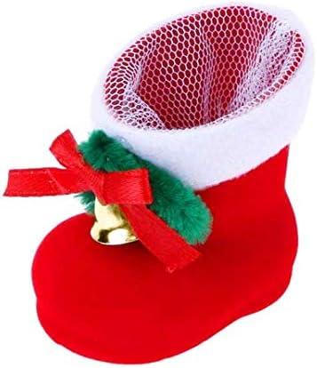 d/écoration de la maison sac /à bonbons de No/ël d/écorations /à suspendre YYWJ Bottes de No/ël pour bonbons arbre de No/ël bo/îte cadeau