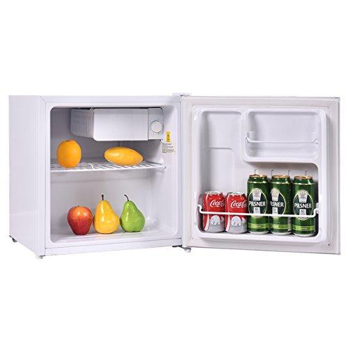 Costway Mini Kühlschrank mit Gefrierfach 50L A+ Gefrierschrank Kühlbox Getränke Kühler Hotel Mini-Bar