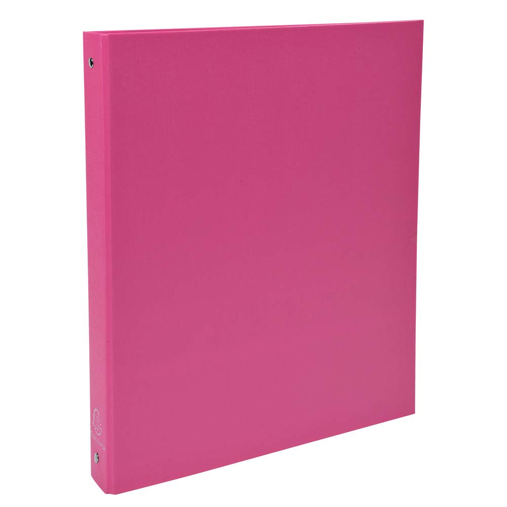 Exacompta 51365E - Carpeta con 4 anillas, A4, color rosa: Amazon.es: Oficina y papelería