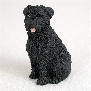 - Bouvier Des Flandres Miniature Dog Figurine - Uncropped Ears