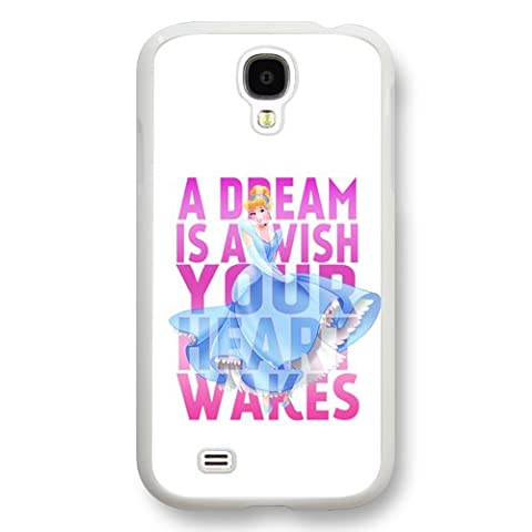 Personalized Cinderella Cartoon Hard Plastic Phone Case Cover for Samsung Galaxy S4 - White (Cinderella Phone Cases Galaxy S4)