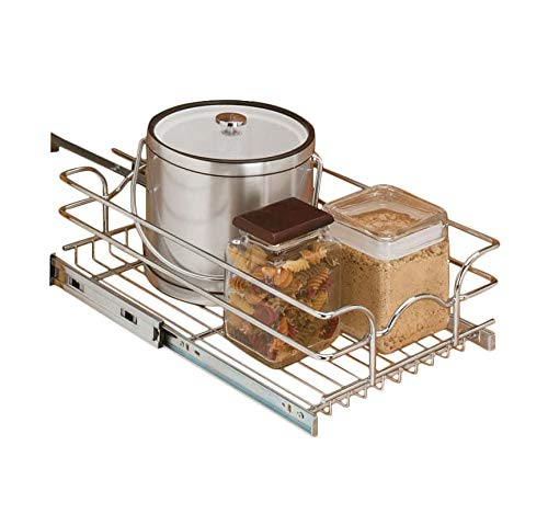Rev-A-Shelf - 5WB1-0918-CR - 9 in. W x 18 in. D Base Cabinet Pull-Out Chrome Wire Basket ()