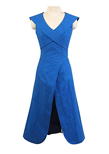 Good Female Comic Con Costumes (Hot Fantasy TV Series Halloween Women Costume Blue Dress (US Women-XXL, Blue))