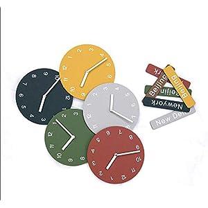 Wall clock Reloj Reloj de Pared Reloj de Pared Reloj de Pared Movimiento de escaneo silencioso Estilo nórdico Material de Madera (137 * 63cm) (220 * 115cm) 6