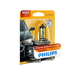 Philips 9003B1 Standard Halogen Replacement Headlight Bulb, 1 Pack