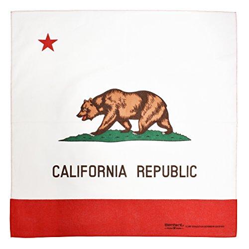 Bandana, 12 Pack 100% Cotton Bandanas for Women Men with Paisley, Flags & More (California Flag)