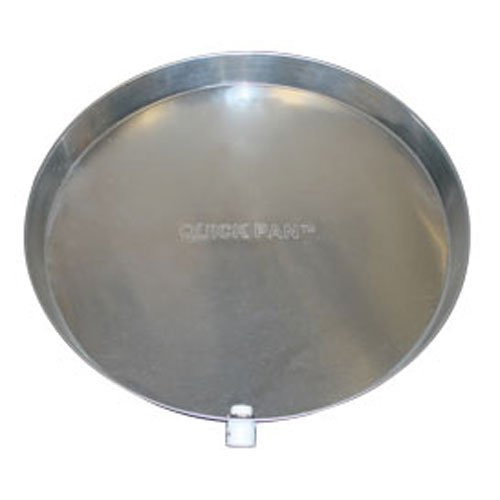 Holdrite QP-28-C Aluminum Water Heater Pan with Drain Fitting, 28''