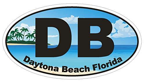 Daytona Decal - DB Daytona Beach Florida Oval Vinyl Bumper Sticker Decal D1122 5