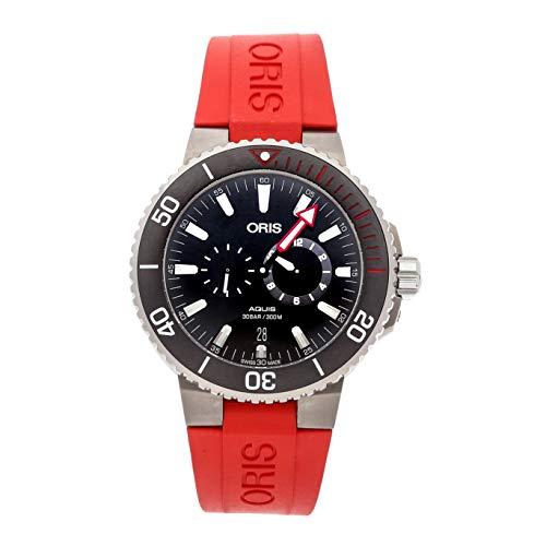 Oris Regulator Mechanical (Automatic) Black Dial Mens Watch 01 749 7734 7154-Set (Certified Pre-Owned)