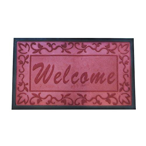 (Star Element Rubber Back Anti Slip Front Doormat Large 30 x 18 inches Durable Outdoor Indoor Entrance Doormat (Burgandy))