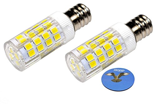 HQRP 2-Pack E12 110V LED Light Bulb Cool White for Ceiling Fan, Chandelier, Indoor Lighting, Drill Press plus HQRP Coaster by HQRP