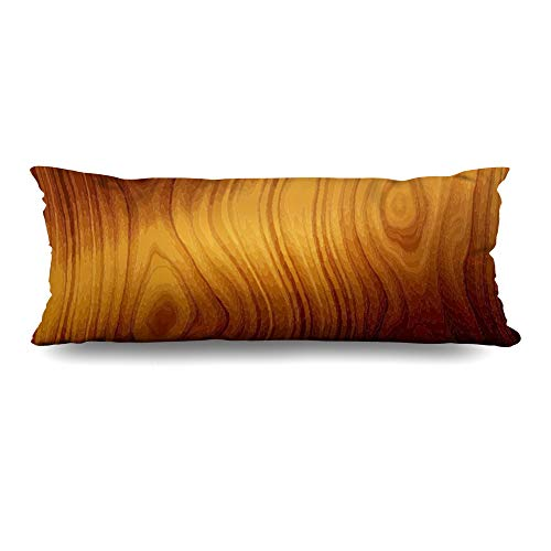 Ahawoso Body Pillows Cover 20x54 Inches Hardwood Brown Table Wood See My Board Red Wooden Oak Panel Planks Dark Decorative Cushion Case Home Decor Pillowcase