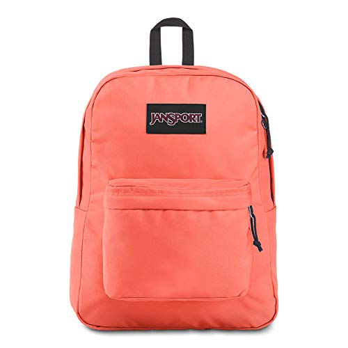 JanSport Black Label Superbreak Backpack - Lightweight School Bag | Orange Fade