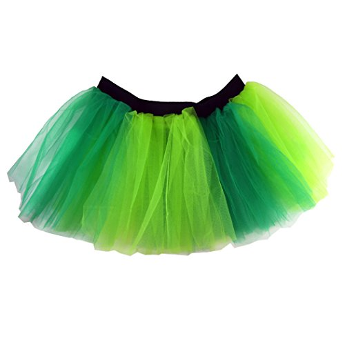 Green Tutu (Runners Tutu by Gone For a Run | Lightweight | One Size Fits Most | Two Tone Green)