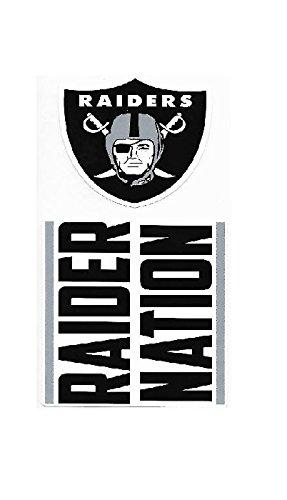 (NFL Oakland Raiders Double Up Die Cut 2-Piece Sticker Sheet)