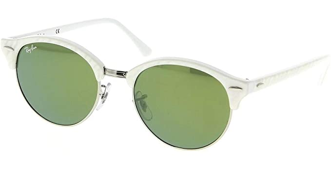 998471814b354 Image Unavailable. Image not available for. Colour  Ray-Ban RB4246 Clubround  Sunglasses Top Wrinkled White ...