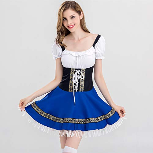 Simmia Halloween Costumes Halloween Maid Costume Munich Germany Female Beer Service Bartender Clothing bar Night, 2837, L]()