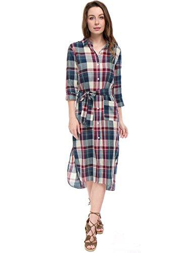 buy 100 cotton dress shirt - 9