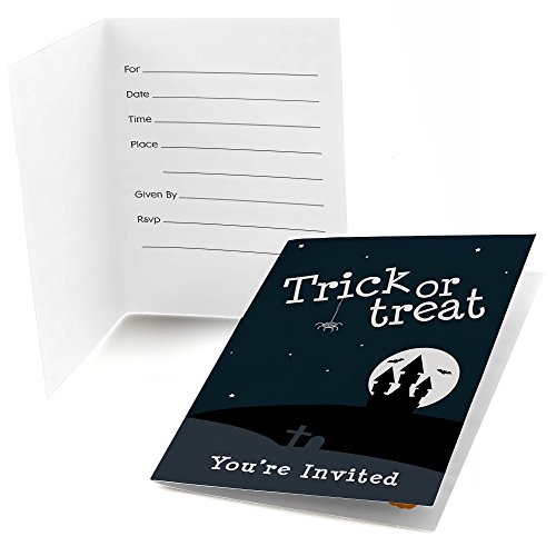 Big Dot of Happiness Trick or Treat - Fill in Halloween Party Invitations (8 Count)]()