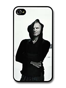 Sting The Police Posing with Black Hoodie case for iPhone 4 4S