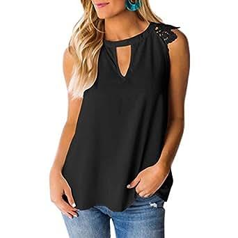 Amazon.com: Pandaie - Camiseta sin mangas para mujer con ...
