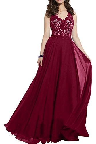 Damen Festliche Elegant Blau Brautmutterkleider Damen Kleider Charmant Spitze Weinrot Royal Abendkleider Chiffon Etw8qz8