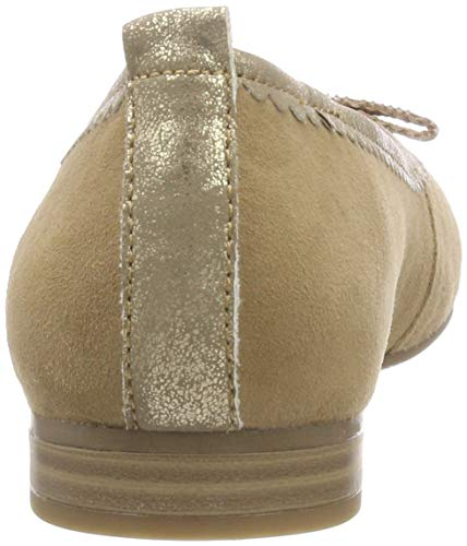 31 Donna Tamaris 22106 antelope Marrone 375 Ballerine Tq7vaxw0