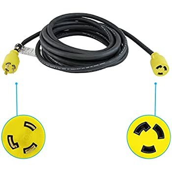 Houseables Extension Cord, Electric Wire, 3 Prong, 30 Amp, 250 Volt ...
