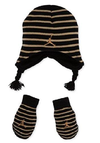 Nike Jordan Little Boy's 2/4T Striped Knit Beanie Hat & Mittens Set