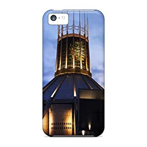 Cute Tpu Rewens Liverpool Metropolitan Cathedral Case Cover For Iphone 5c