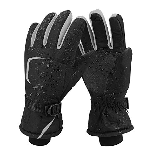 Keegud Ski Gloves Winter Warm Snow Gloves Waterproof Windproof Skiing Snowboarding Snowmobile Cold Weather Gloves for Men and Women