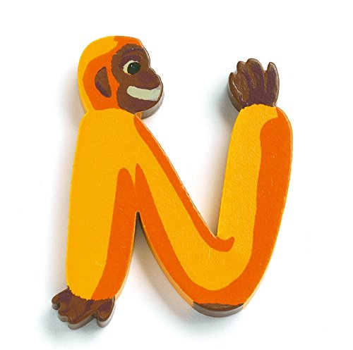 [Djeco Animal Wooden Letter - N - monkey] (Animals That Start With The Letter A)