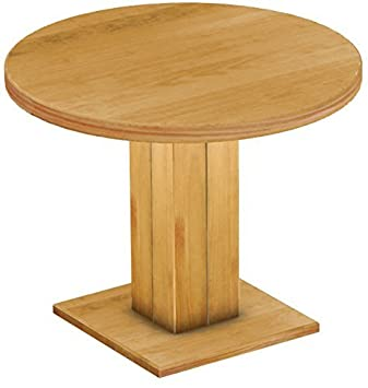 BrasilmÖbel Rio Uno Furniture Dining Table Solid Wood Oiled And Waxed 100 Cm Rund - 78 Cm Hoch Honey