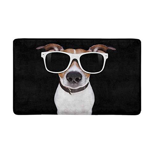 InterestPrint Funny Jack Russell Terrier Puppy Dog Doormat Non Slip Indoor/Outdoor Floor Door Mat Home Decor, Entrance Rug Rubber Backing Large 30