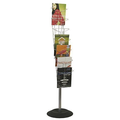 Alba Wire Floor Standing Literature Display, 7 Compartments, 59.1