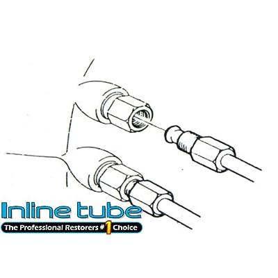 (I-9-11) B60-87 Automatic Transmission Cooler Fluid Line 5/16 Tube Straight Pipe Fittings (I-9-11): Automotive