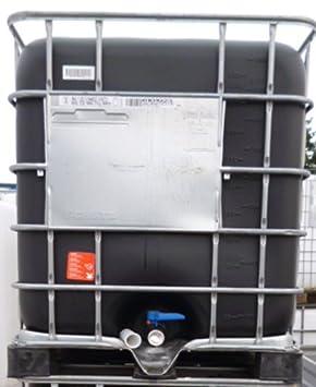 Desconocido 1000 litros IBC Depósito (11) Negro, completo nuevo – de tstoff palé