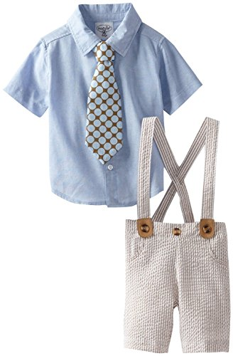 Mud Pie Boys Seersucker 3 Pc Suit with Clip Tie ()